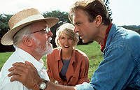 Jurassic Park (1993)<br /> Richard Attenborough, Laura Dern and Sam Neill <br /> *Filmstill - Editorial Use Only*<br /> CAP/KFS<br /> Image supplied by Capital Pictures