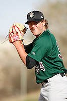 Brooks Brown of the Visalia Oaks during a California League baseball game on April 9, 2007 at Stater Bros. Stadium in Adelanto, California. (Larry Goren/Four Seam Images)