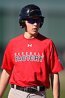 December 29, 2009:  Nicholas Lohrum (11) of the Baseball Factory Cornhuskers team during the Pirate City Baseball Camp & Tournament at Pirate City in Bradenton, FL.  Photo By Mike Janes/Four Seam Images