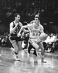 21 MAR 1964:  UCLA guard Gail Goodrich (25) and unidentified Duke player (20) during the NCAA Final Four Men's National Basketball Championship held in Kansas City, MO. at the Municipal Auditorium. UCLA defeated Duke 98-83 for the championship. Photo Copyright Rich Clarkson