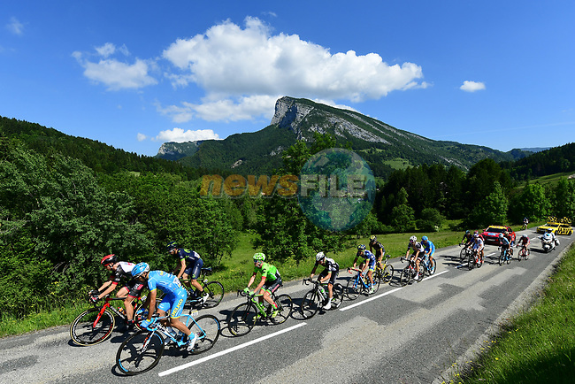 The breakaway is formed on Le Col de Porte during Stage 7 of the Criterium du Dauphine 2017, running 168km from Aoste to Alpe d'Huez, France. 10th June 2017. <br /> Picture: ASO/A.Broadway | Cyclefile<br /> <br /> <br /> All photos usage must carry mandatory copyright credit (&copy; Cyclefile | ASO/A.Broadway)