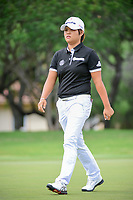 Haru Nomura (JPN) departs the number 2 green after sinking her putt during round 3 of  the Volunteers of America Texas Shootout Presented by JTBC, at the Las Colinas Country Club in Irving, Texas, USA. 4/29/2017.<br /> Picture: Golffile | Ken Murray<br /> <br /> <br /> All photo usage must carry mandatory copyright credit (&copy; Golffile | Ken Murray)
