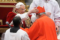Indian cardinal George Alencherry  , Pope Benedict XVI leads the Consistory where he will appoint 22 new cardinals on February 18, 2012 at St Peter's basilica at the Vatican.