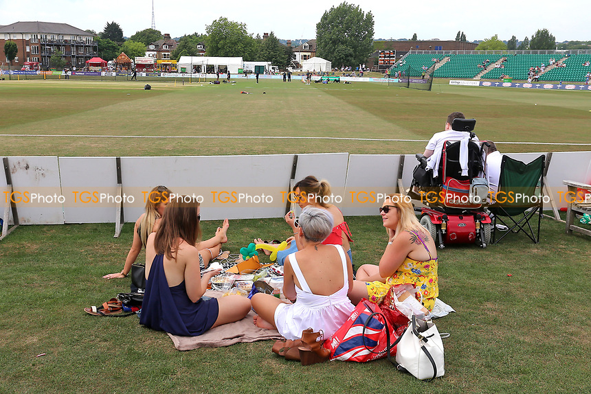 General view of the ground as spectators await the start of play ahead of  Kent Spitfires vs Essex Eagles, NatWest T20 Blast Cricket at The County Ground on 9th July 2017
