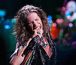 Aerosmith's Steven Tyler performing at The Boston Garden, July 17, 2012.