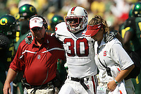 2 September 2006: Charlie Miller, Marcus McCutcheon (30), Amy Carroll during Stanford's 48-10 loss to the Oregon Ducks at Autzen Stadium in Eugene, OR.