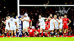 England celebrate their win - RBS 6Nations 2015 - Wales  vs England - Millennium Stadium - Cardiff - Wales - 6th February 2015 - Picture Simon Bellis/Sportimage