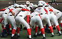 Chiben Gakuen team group, MARCH 31, 2016 - Baseball : Chiben Gakuen players make a circle before 88th National High School Baseball Invitational Tournament final game between Takamatsu Shogyo 1-2 Chiben Gakuen at Koshien Stadium in Hyogo, Japan. (Photo by Katsuro Okazawa/AFLO)