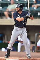 Pulaski Mariners right fielder Taylor Zeutenhorst #60 awaits a pitch during a game against the Greenville Astros at Pioneer Park July 12, 2014 in Greenville, Tennessee. The Mariners defeated the Astros 11-10. (Tony Farlow/Four Seam Images)