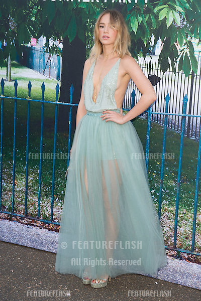Suki Waterhouse at The Serpentine Gallery Summer Party 2015 at The Serpentine Gallery, London.<br /> July 2, 2015  London, UK<br /> Picture: Steve Vas / Featureflash