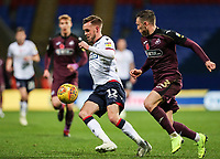 Bolton Wanderers' Craig Noone competing with Swansea City's Connor Roberts<br /> <br /> Photographer Andrew Kearns/CameraSport<br /> <br /> The EFL Sky Bet Championship - Bolton Wanderers v Swansea City - Saturday 10th November 2018 - University of Bolton Stadium - Bolton<br /> <br /> World Copyright © 2018 CameraSport. All rights reserved. 43 Linden Ave. Countesthorpe. Leicester. England. LE8 5PG - Tel: +44 (0) 116 277 4147 - admin@camerasport.com - www.camerasport.com