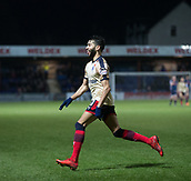 2nd December 2017, Global Energy Stadium, Dingwall, Scotland; Scottish Premiership football, Ross County versus Dundee; Dundee's Faissal El Bakhtaoui celebrates after scoring to make it 2-0