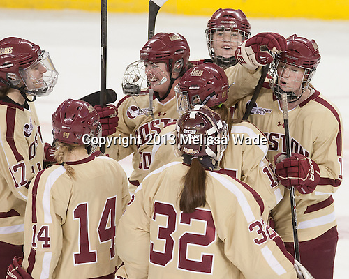 - The Boston College Eagles defeated the University of Connecticut Huskies 6-1 in BC's senior game on Saturday, February 16, 2013, at Kelley Rink in Conte Forum in Chestnut Hill, Massachusetts.