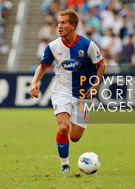 SO KON PO, HONG KONG - JULY 30: Morten Gamst Pedersen of Blackburn Rovers in action against Kitchee during the Asia Trophy pre-season friendly match at the Hong Kong Stadium on July 30, 2011 in So Kon Po, Hong Kong.  Photo by Victor Fraile / The Power of Sport Images