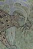 Leopard, a handcut jewel glass mosaic, is shown in  Chalcedony, Aquamarine, Quartz, Agate, Obsidian<br /> -Lotty Bunbury for New Ravenna Mosaics