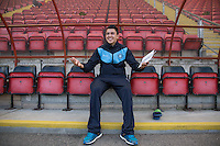 Luke O'Nien of Wycombe Wanderers relaxes in the dugout pre match during the Sky Bet League 2 match between Leyton Orient and Wycombe Wanderers at the Matchroom Stadium, London, England on 19 September 2015. Photo by Andy Rowland.