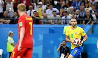KAZAN - RUSIA, 06-07-2018: RENATO AUGUSTO jugador de Brasil celebra después de anotar un gol a Bélgica durante partido de cuartos de final por la Copa Mundial de la FIFA Rusia 2018 jugado en el estadio Kazan Arena en Kazán, Rusia. / RENATO AUGUSTO player of Brazil celebrates after scoring a goal to Belgium during match of quarter final for the FIFA World Cup Russia 2018 played at Kazan Arena stadium in Kazan, Russia. Photo: VizzorImage / Julian Medina / Cont