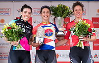 Picture by Alex Whitehead/SWpix.com - 13/05/2018 - British Cycling - HSBC UK National Women's Road Series - Lincoln Grand Prix - Rebecca Durrell of Storey Racing wins, Second - Anna Henderson, Third - Nikki Juniper.
