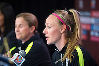 Ottawa, Canada - June 25, 2015:  The USWNT held a press conference and trained before their quarterfinal game in the FIFA Women's World Cup at Ottawa Stadium