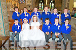 Killocrim NS 1st Communion class In St. Mary's Church, Listowel on Saturday last.:Front :James Collins, Anna Hooke, Eve Kenny, Gearoid Molyneaux,Thomas Barrett & Cillian Brophy. Back : Luke McGrath, Ben Stack, Jer Long, Cillian O'Sullivan, Jacob Lucey & Darragh Mackessy.