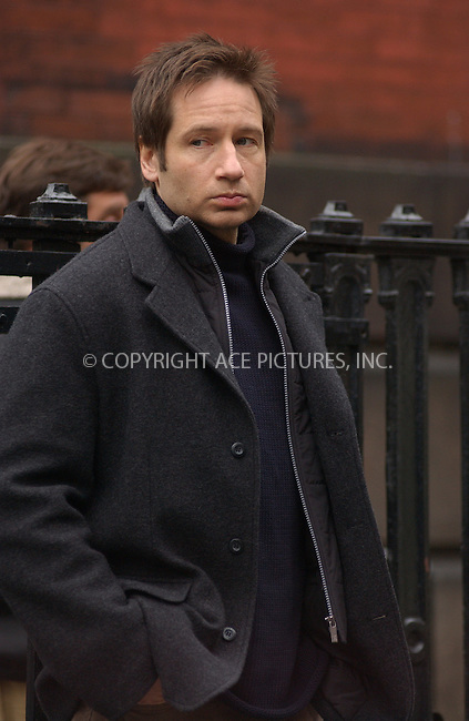 WWW.ACEPIXS.COM . . . . . ..New York, November 18, 2004: David Duchovny on the set of 'Trust The Man.' East Side. Please byline: ACE006 - ACE PICTURES.. . . . . . ..Ace Pictures, Inc:  ..Alecsey Boldeskul (646) 267-6913 ..Philip Vaughan (646) 769-0430..e-mail: info@acepixs.com..web: http://www.acepixs.com
