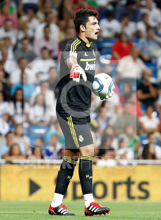 Real Madrid's Antonio Adan Garrido during Santiago Bernabeu Trophy.August 24,2011. (ALTERPHOTOS/Acero)