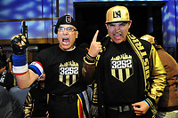 Philadelphia, PA - Thursday January 19, 2018: Los Angeles FC fans during the 2018 MLS Superdraft at the Pennsylvania Convention Center.
