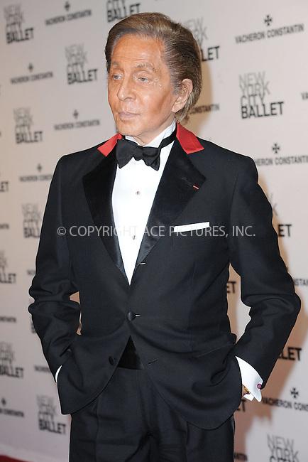 WWW.ACEPIXS.COM<br /> May 8, 2014 New York City<br /> <br /> Valentino Garavani attends the New York City Ballet 2014 Spring Gala at David H. Koch Theater, Lincoln Center on May 8, 2014 in New York City.<br /> <br /> Please byline: Kristin Callahan<br /> <br /> ACEPIXS.COM<br /> <br /> Tel: (212) 243 8787 or (646) 769 0430<br /> e-mail: info@acepixs.com<br /> web: http://www.acepixs.com