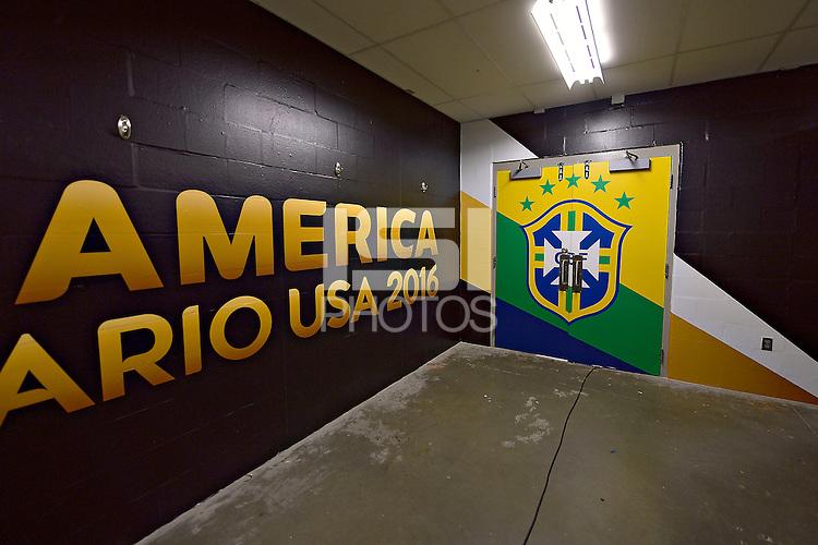 Photo before the match Brasil vs Peru, Corresponding to  Group -B- of the America Cup Centenary 2016 at Gillette Stadium.<br /> <br /> Foto previo al partido Brasil vs Peru, Correspondiente al Grupo -B- de la Copa America Centenario 2016 en el Estadio Gillette en la foto: Vestidor Brasil <br /> <br /> <br /> 12/06/2016/MEXSPORT/ISAAC ORTIZ
