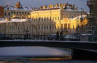 Europe-Asie/Russie/Saint-Petersbourg: Les canaux bordés de palais aux teintes pastel sur les bords de la Moïka