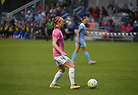 Kansas City, MO - Friday May 13, 2016: FC Kansas City defender Becky Sauerbrunn (4) against the Chicago Red Stars during a regular season National Women's Soccer League (NWSL) match at Swope Soccer Village. The match ended 0-0.