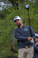 Ryan Moore (USA) watches his tee shot on 2 during Round 3 of the Valero Texas Open, AT&T Oaks Course, TPC San Antonio, San Antonio, Texas, USA. 4/21/2018.<br /> Picture: Golffile | Ken Murray<br /> <br /> <br /> All photo usage must carry mandatory copyright credit (© Golffile | Ken Murray)