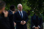 Senator Chris Van Hollen, Democrat of Maryland, prior to a funeral service for late Senator John McCain, Republican of Arizona at the National Cathedral in Washington, DC on September 1, 2018. Credit: Alex Edelman / CNP