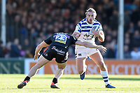 Max Clark of Bath Rugby takes on the Exeter Chiefs defence. Gallagher Premiership match, between Exeter Chiefs and Bath Rugby on March 24, 2019 at Sandy Park in Exeter, England. Photo by: Patrick Khachfe / Onside Images