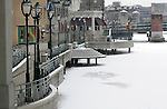 Ice-covered river in downtown Milwaukee. (DOUG WOJCIK MEDIA)