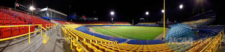 29 JUNE 2010:  Rosenblatt Stadium sits silently after its' final College World Series game between the University of South Carolina and UCLA in Omaha, NE.  South Carolina defeated UCLA 2-1 for the national title.  Jamie Schwaberow/NCAA Photos