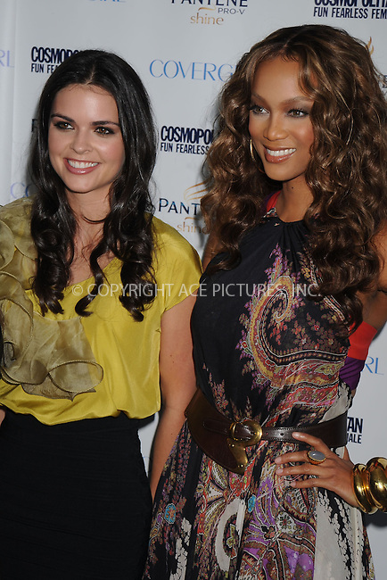 WWW.ACEPIXS.COM . . . . . ....September 15 2008, New York City....Actress Katie Lee Joel and Model Tyra Banks at the Cosmopolitan Fun Fearless Phenom Awards at the Hearst Tower on September 15 2008 in New York City....Please byline: KRISTIN CALLAHAN - ACEPIXS.COM.. . . . . . ..Ace Pictures, Inc:  ..(646) 769 0430..e-mail: info@acepixs.com..web: http://www.acepixs.com