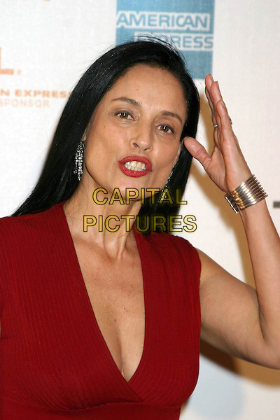 "SONIA BRAGA.3rd Annual Tribeca Film Festival - ""Raising Helen"" - Arrivals.Tribeca Performing Arts Center New York City, New York.headshot, portrait, plunging neckline, cleavage.www.capitalpictures.com.sales@capitalpictures.com.Supplied By Capital Pictures"