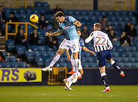 Max Muller of Wycombe Wanderers during the Checkatrade Trophy round two Southern Section match between Millwall and Wycombe Wanderers at The Den, London, England on the 7th December 2016. Photo by Liam McAvoy.