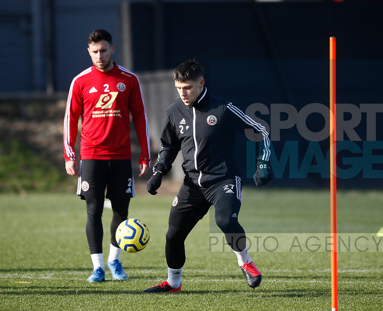 Muhamed Besic of Sheffield Utd during the Press Conference & Training at the Steelphalt Academy, Sheffield. Picture date: 7th February 2020. Picture credit should read: Simon Bellis/Sportimage