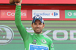 Alejandro Valvede (ESP) Movistar Team retains the Green Jersey at the end of Stage 19 of the La Vuelta 2018, running 154.4km from Lleida to Andorra, Naturlandia, Andorra. 14th September 2018.                   <br /> Picture: Colin Flockton | Cyclefile<br /> <br /> <br /> All photos usage must carry mandatory copyright credit (© Cyclefile | Colin Flockton)