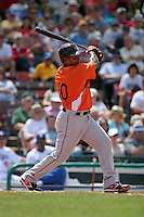 Baltimore Orioles Miguel Tejeda during a Grapefruit League Spring Training game at Holman Stadium on March 22, 2007 in Vero Beach, Florida.  (Mike Janes/Four Seam Images)