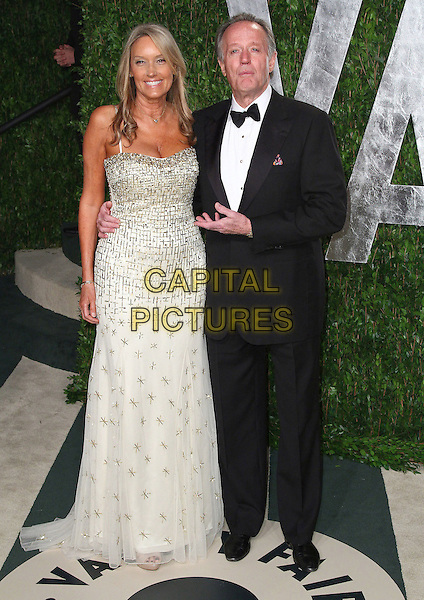 Margaret 'Parky' DeVogelaere, Peter Fonda.2012 Vanity Fair Oscar Party held at the Sunset Tower West Hollywood, California, USA..26 February 2012.oscars full length black tuxedo white shirt silver married husband wife .CAP/ADM/FS.©Faye Sadou/AdMedia/Capital Pictures.