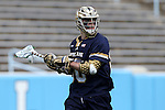 23 April 2016: Notre Dame's Matt Kavanagh. The University of North Carolina Tar Heels hosted the University of Notre Dame Fighting Irish at Kenan Stadium in Chapel Hill, North Carolina in a 2016 NCAA Division I Men's Lacrosse match. UNC won the game 17-15.