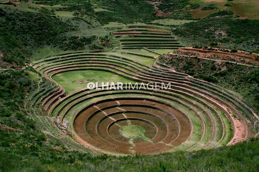 Agricultura em terraços circulares de Moray. Perú. 2006. Foto de Flávio Bacellar.