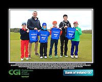 Dungarvan GC team with Bank of Ireland Official Morgan Whelan and CGI Participation Officer Jennifer Hickey with Junior golfers across Munster practicing their skills at the regional finals of the Dubai Duty Free Irish Open Skills Challenge at the Ballykisteen Golf Club, Limerick Junction, Co. Tipperary. 16/04/2016.<br /> Picture: Golffile | Thos Caffrey<br /> <br /> <br /> <br /> <br /> <br /> All photo usage must carry mandatory copyright credit (© Golffile | Thos Caffrey)