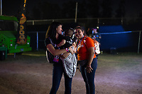 MEXICALI, MEXICO - June 8  A fan carriles his son in the VIP area on Tecate Location June 8, 2019 in Mexicali, Mexico.<br /> Tecate Location Mexicali 2019 is one of the main music festivals nationwide and in the state, Band line up<br /> CAIFANES, CAMILO VII, DRAKE BELL, LNG / SHT, SERBIA<br /> (Photo by Luis Boza/VIEWpress)