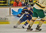 29 December 2013:  Canisius College Golden Griffins forward Kyle Gibbons, a Senior from Westlake, Ohio, in first period action against the University of Vermont Catamounts at Gutterson Fieldhouse in Burlington, Vermont. The Catamounts defeated the Golden Griffins 6-2 in the 2013 Sheraton/TD Bank Catamount Cup NCAA Hockey Tournament. Mandatory Credit: Ed Wolfstein Photo *** RAW (NEF) Image File Available ***
