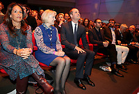 18 April 2017 - Prince William, Duke of Cambridge and Nick Knowles attend a screening of the BBC documentary 'Mind over Marathon' at BBC Radio Theatre in London.  The screening also launches the BBC season on mental health. Photo Credit: ALPR/AdMedia