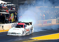 Jul. 26, 2014; Sonoma, CA, USA; NHRA funny car driver Paul Lee during qualifying for the Sonoma Nationals at Sonoma Raceway. Mandatory Credit: Mark J. Rebilas-